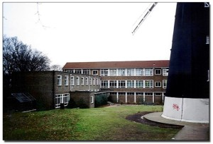 Pic of John Ruskin College site, now a housing development, with a lovely windmill in the middle!
